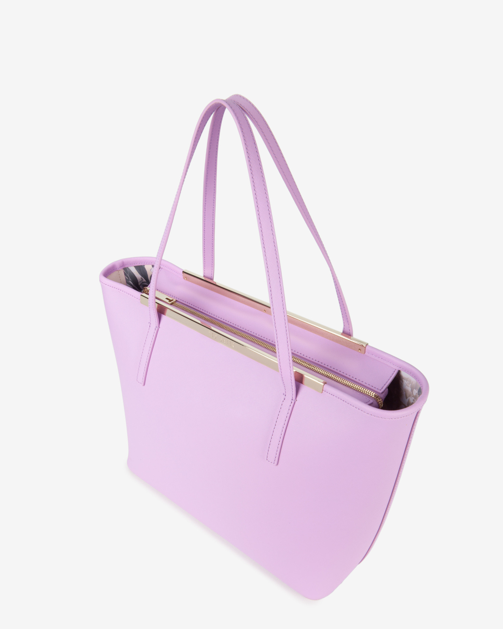 844bc5f74605 Lyst - Ted Baker Large Crosshatch Leather Shopper Bag in Purple