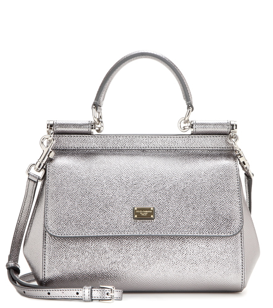 31823b49a027 Dolce   Gabbana - Miss Sicily Small Metallic Leather Shoulder Bag - Lyst
