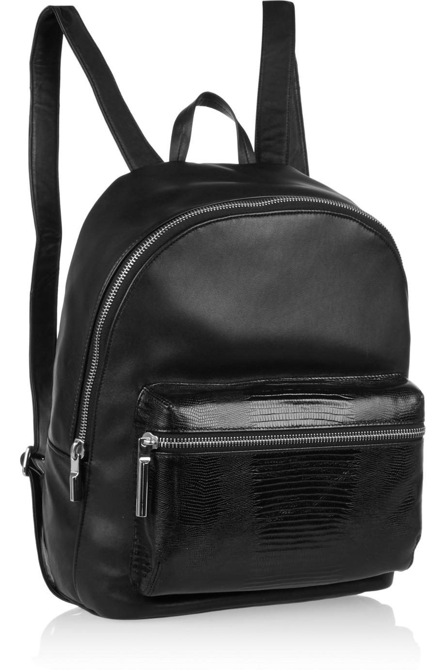 f023294f56 Lyst - Elizabeth and James Cynnie Leather Backpack in Black