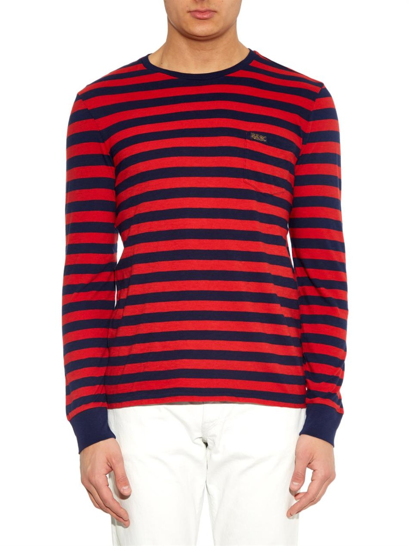 Polo ralph lauren Long-Sleeved Striped Jersey T-Shirt in ...