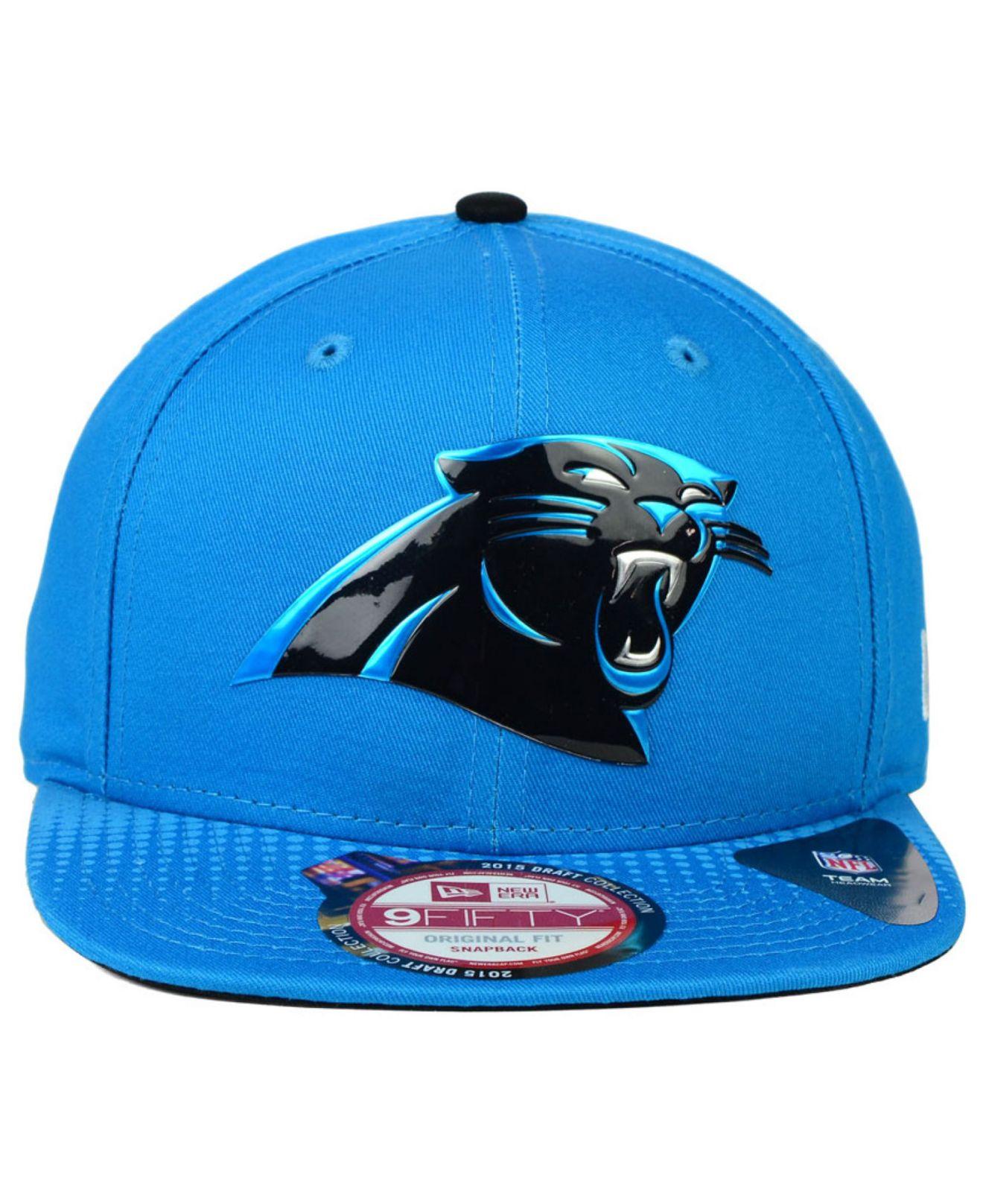 Lyst - KTZ Carolina Panthers 2015 Nfl Draft 9fifty Snapback Cap in ... ab9daea8159