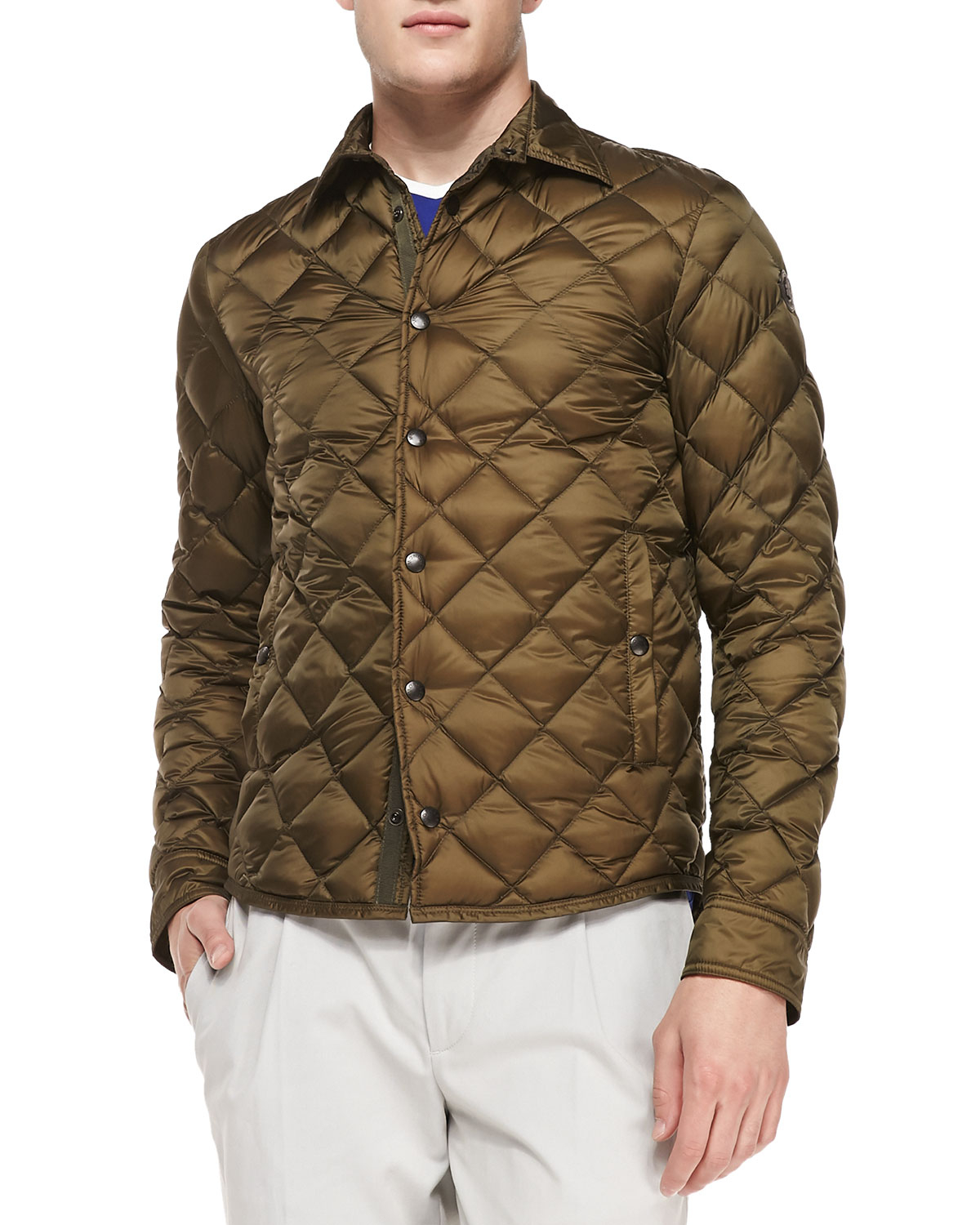 moncler frederic diamond quilted jacket black