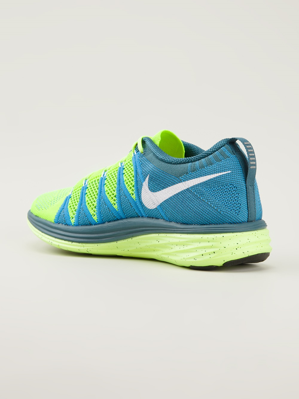 nike flyknit lunar 2 trainers in yellow for men lyst. Black Bedroom Furniture Sets. Home Design Ideas