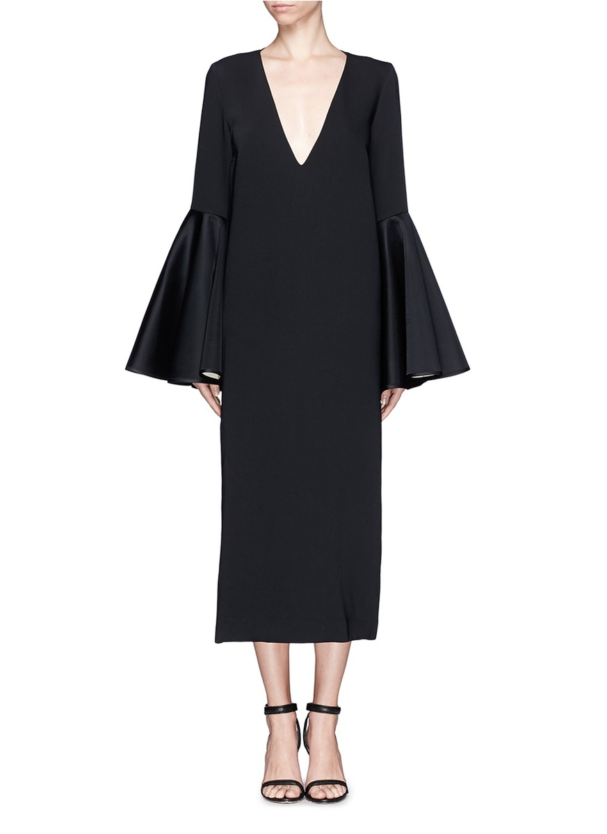 Ellery Mayfair Bell Sleeve Dress In Black Lyst