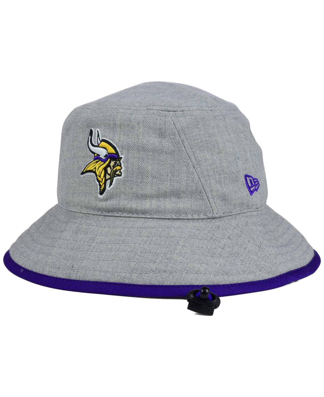 60922018 KTZ Minnesota Vikings Nfl Heather Gray Bucket Hat