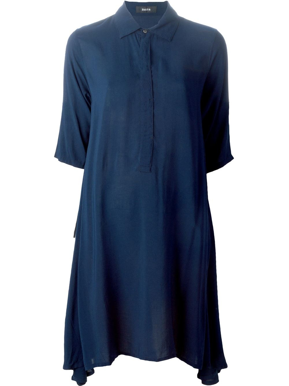 zucca loose fit shirt dress in blue lyst