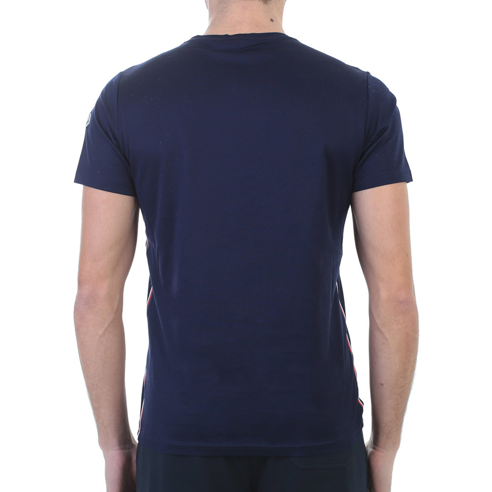 Moncler navy blue cotton t shirt in blue for men lyst for Navy blue shirt online