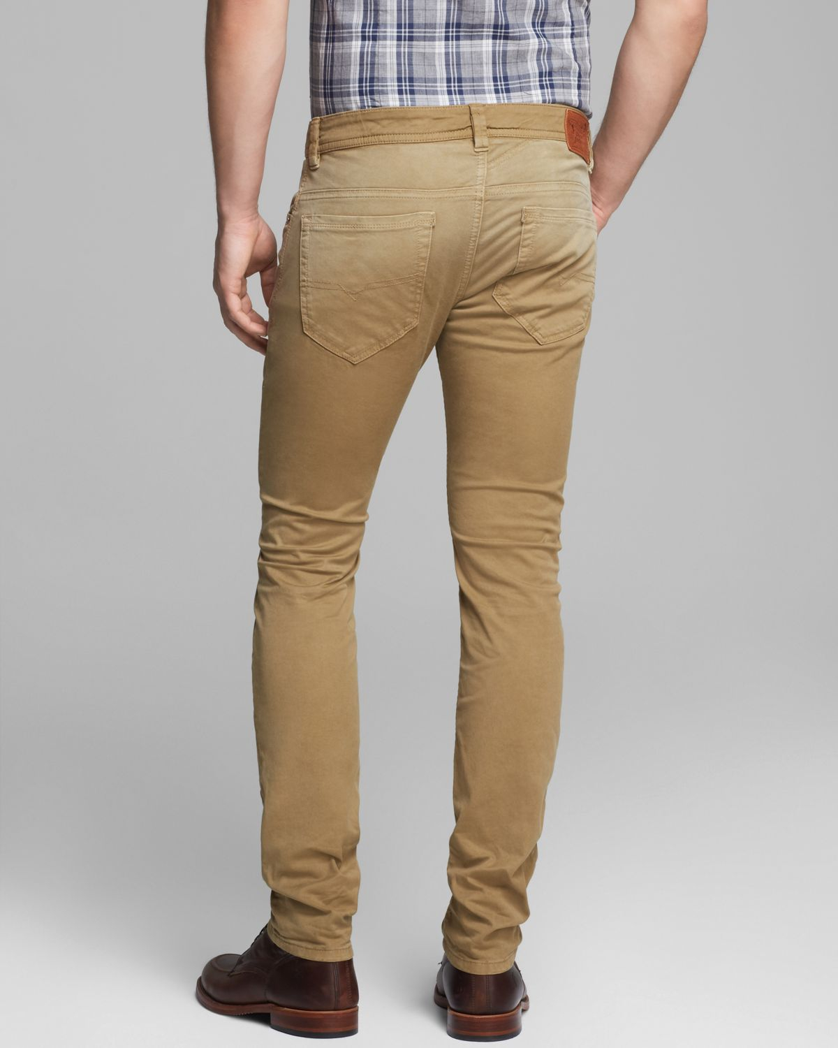 Lyst - Diesel Jeans Thavar Slim Fit in Tan in Brown for Men