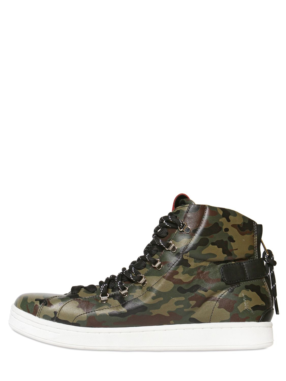 d288167e9738c Dolce & Gabbana Camouflage Leather High Top Sneakers in Green for ...
