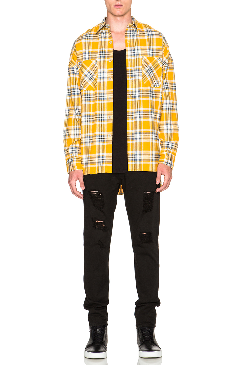 Fear of god Flannel Shirt in Yellow | Lyst