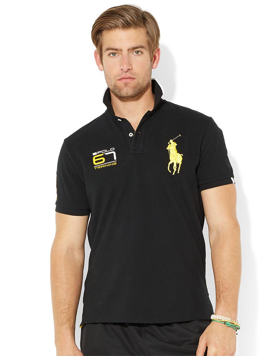 Polo Ralph Lauren Performance Big Pony Polo Shirt In Black