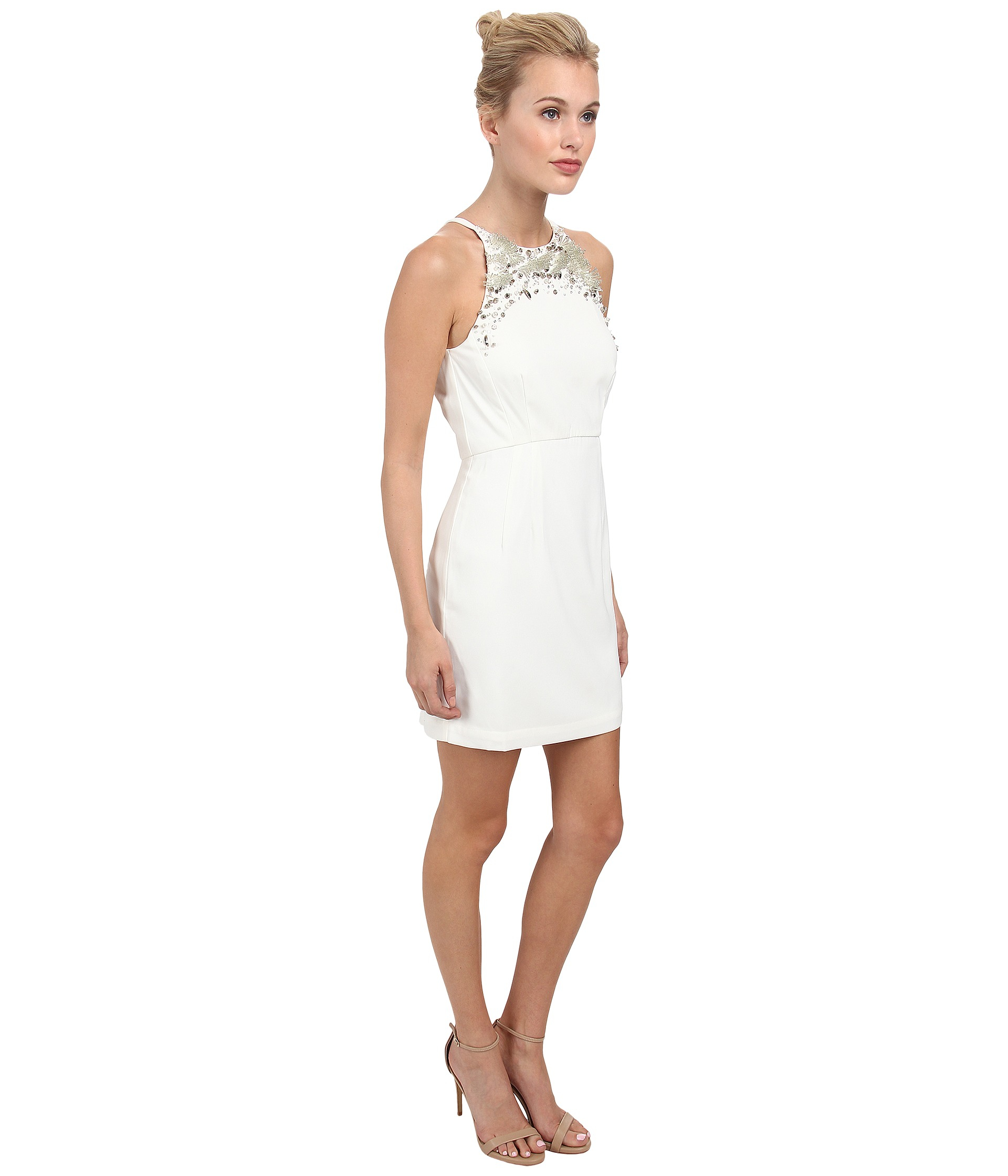 484b7658c9c French Connection New Moon Dress 71Dew in White - Lyst