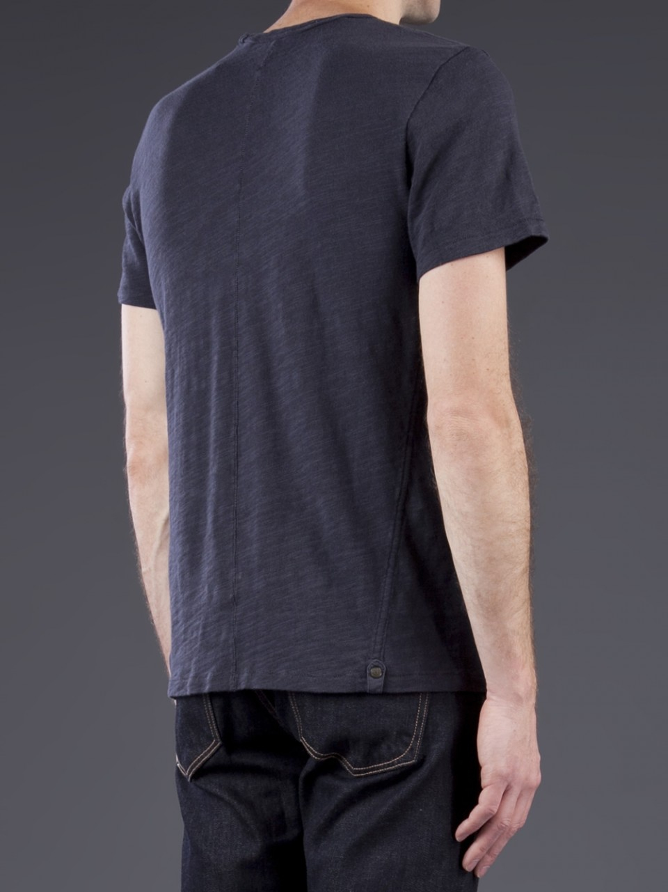 Lyst rag bone basic tee in blue for men for Rag bone shirt