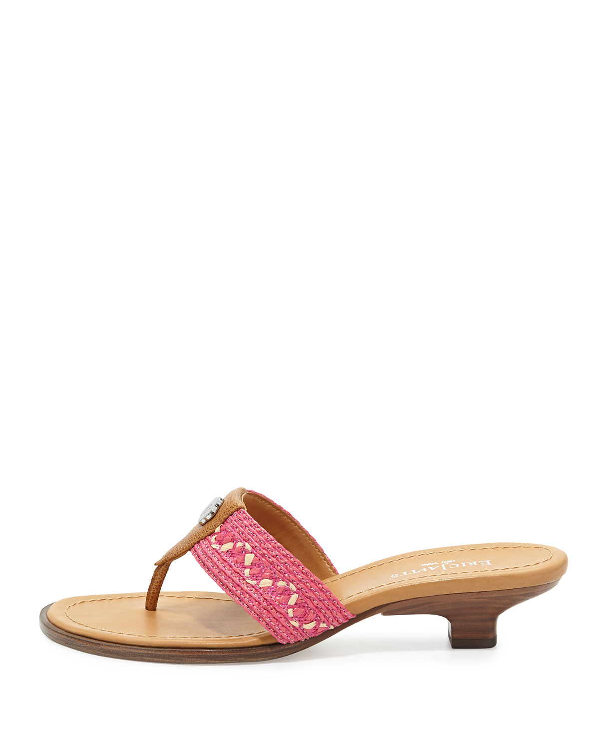 Eric Javits Logo Thong Sandals how much sale online cheap price wholesale price free shipping new free shipping deals 7t5pX