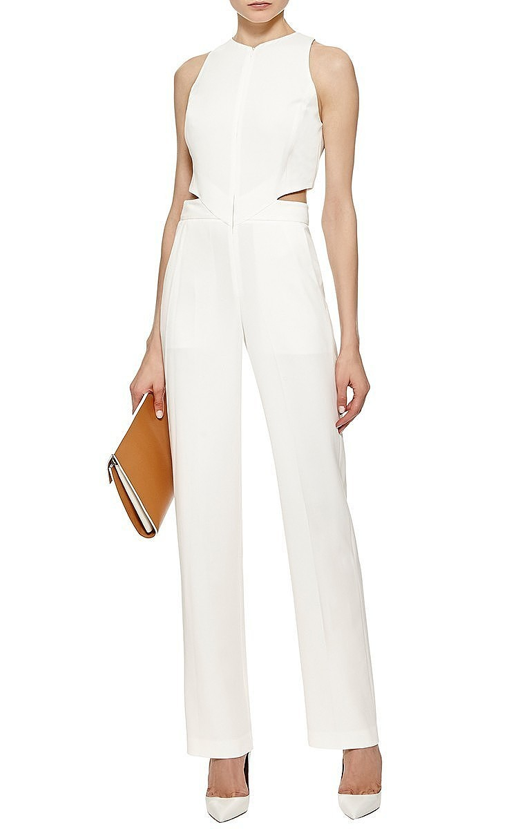 4a7e123fac9 Lyst - A.L.C. Chandler Cut Out Sleeveless Jumpsuit in White