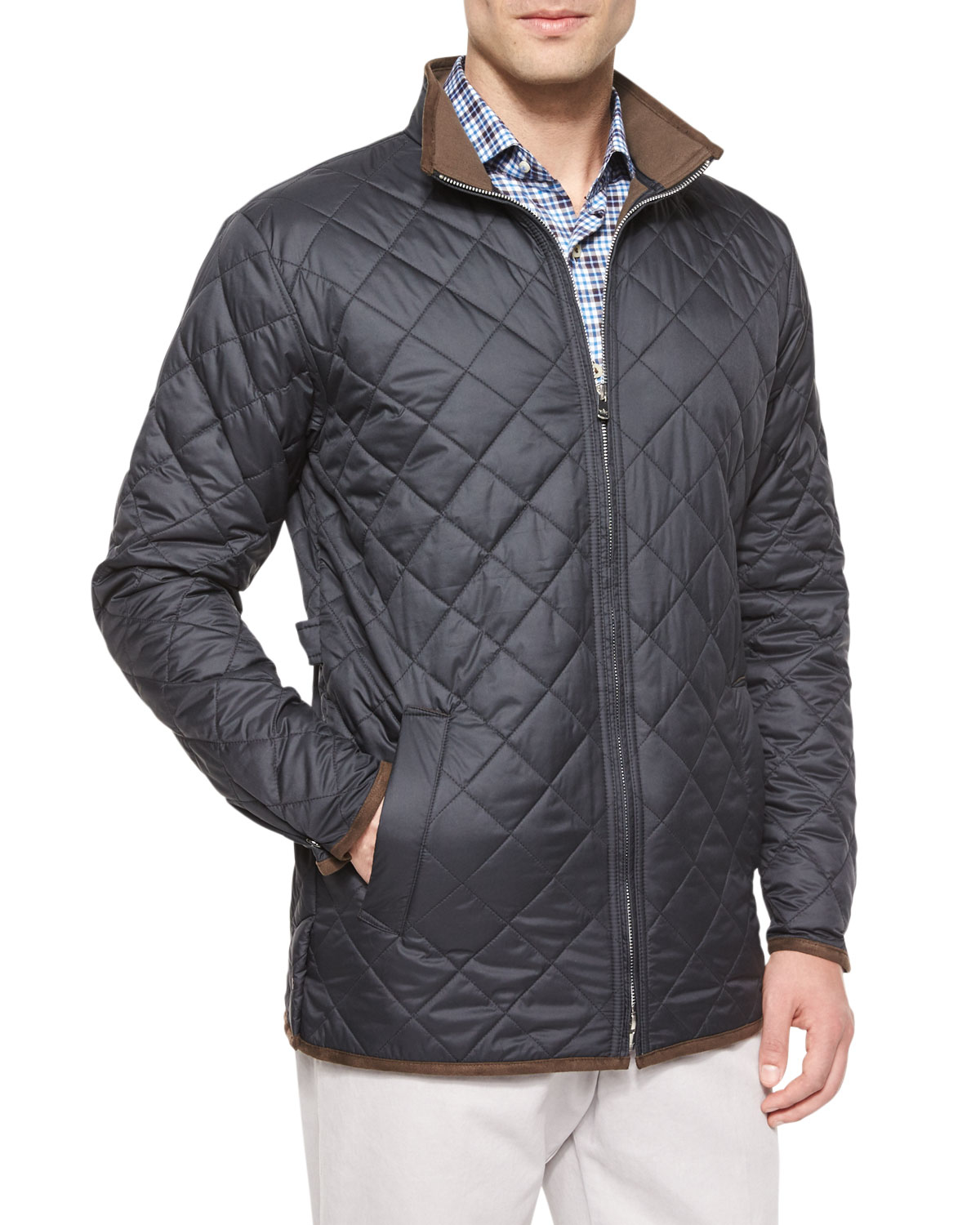 Peter millar Chesapeake Lightweight Quilted Jacket in Black for ...
