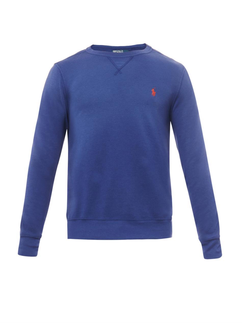 Polo ralph lauren Atlantic Terry Crewneck Sweatshirt in Blue for ...