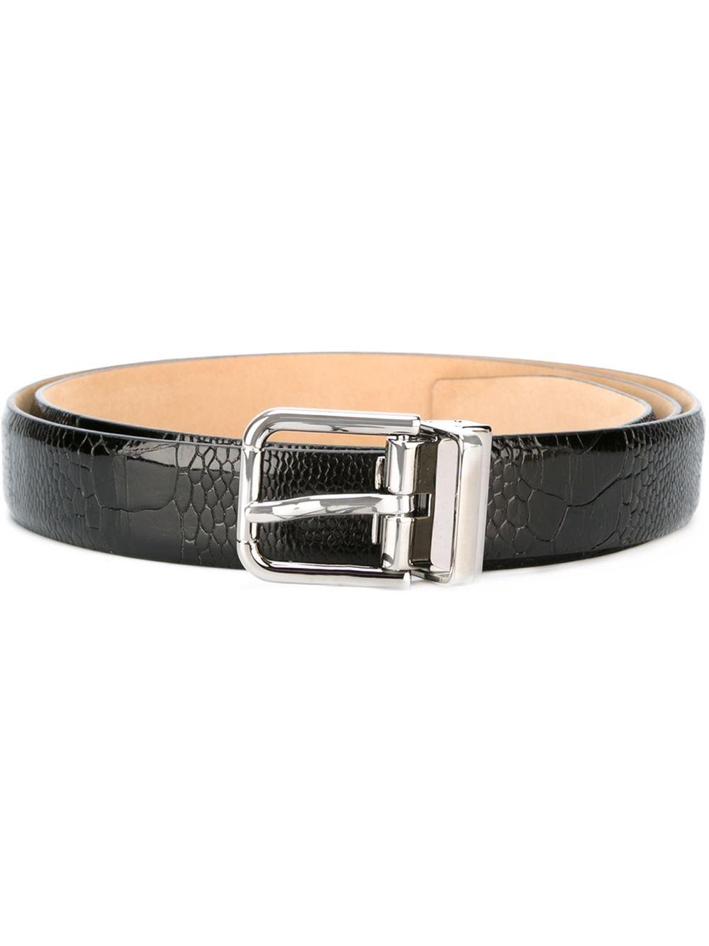 7bbbe22461 ... sale lyst dolce gabbana ostrich leather belt in black for men 3cf79  c2e72