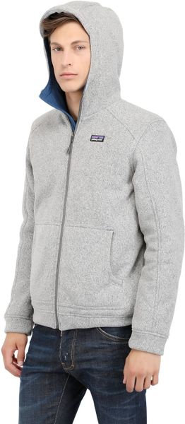 Patagonia Better Sweater Hoody Fleece Jacket In Gray For