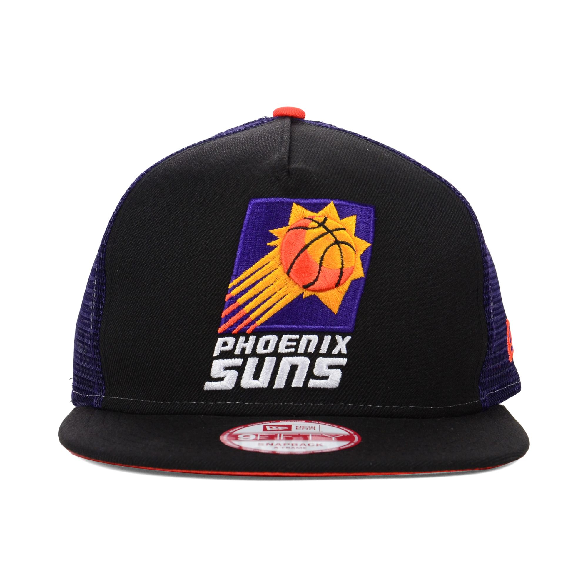 competitive price 171ce 9666d ... switzerland lyst ktz phoenix suns basic trucker 9fifty snapback cap in  black 1a91a bf7ba