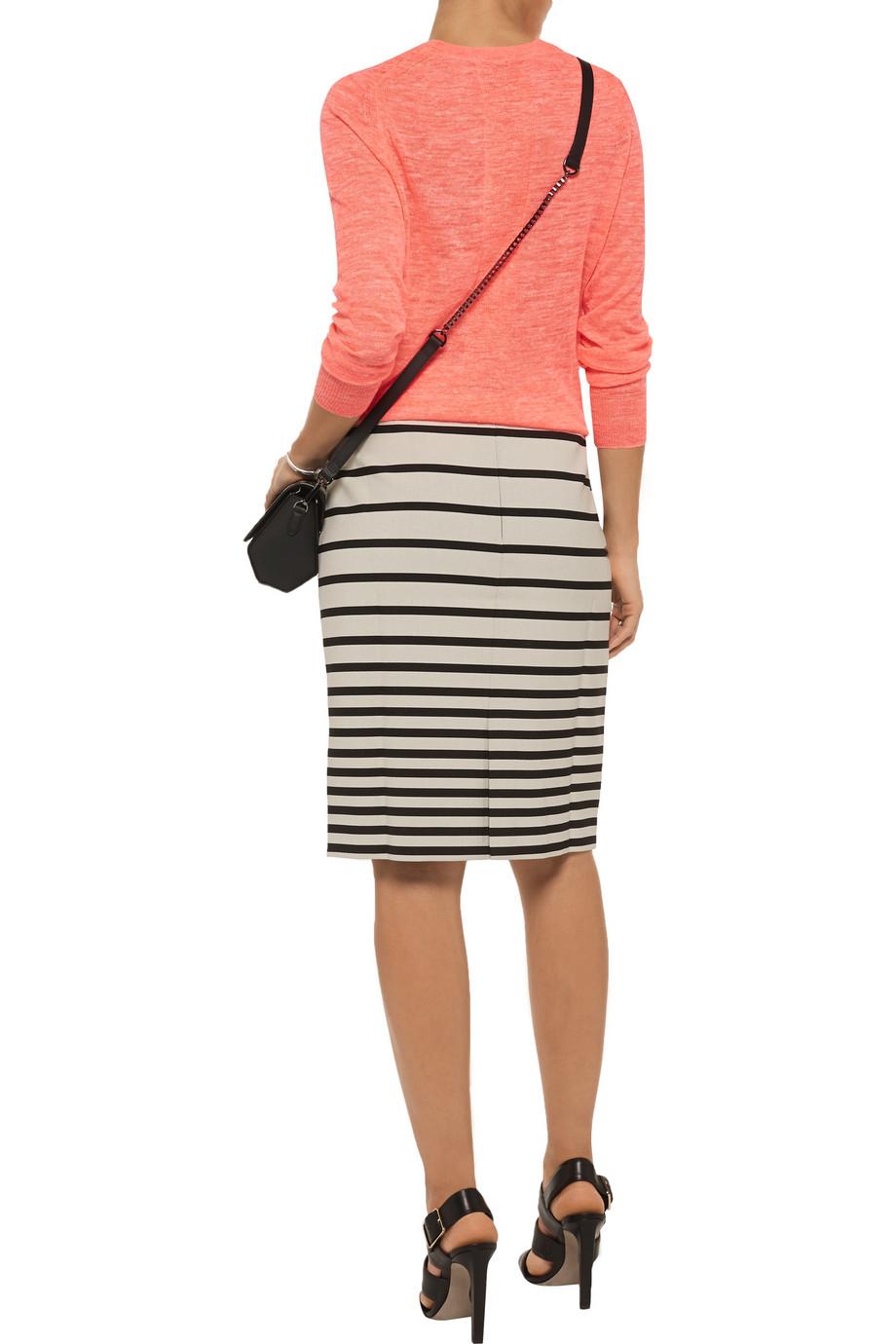 Lyst Halston Heritage Neon Linen Blend Sweater In Pink