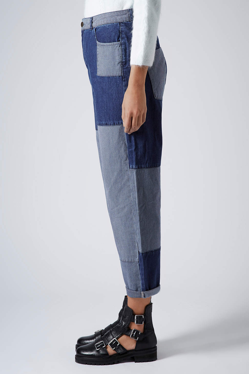 TOPSHOP Patchwork Jeans  in Blue