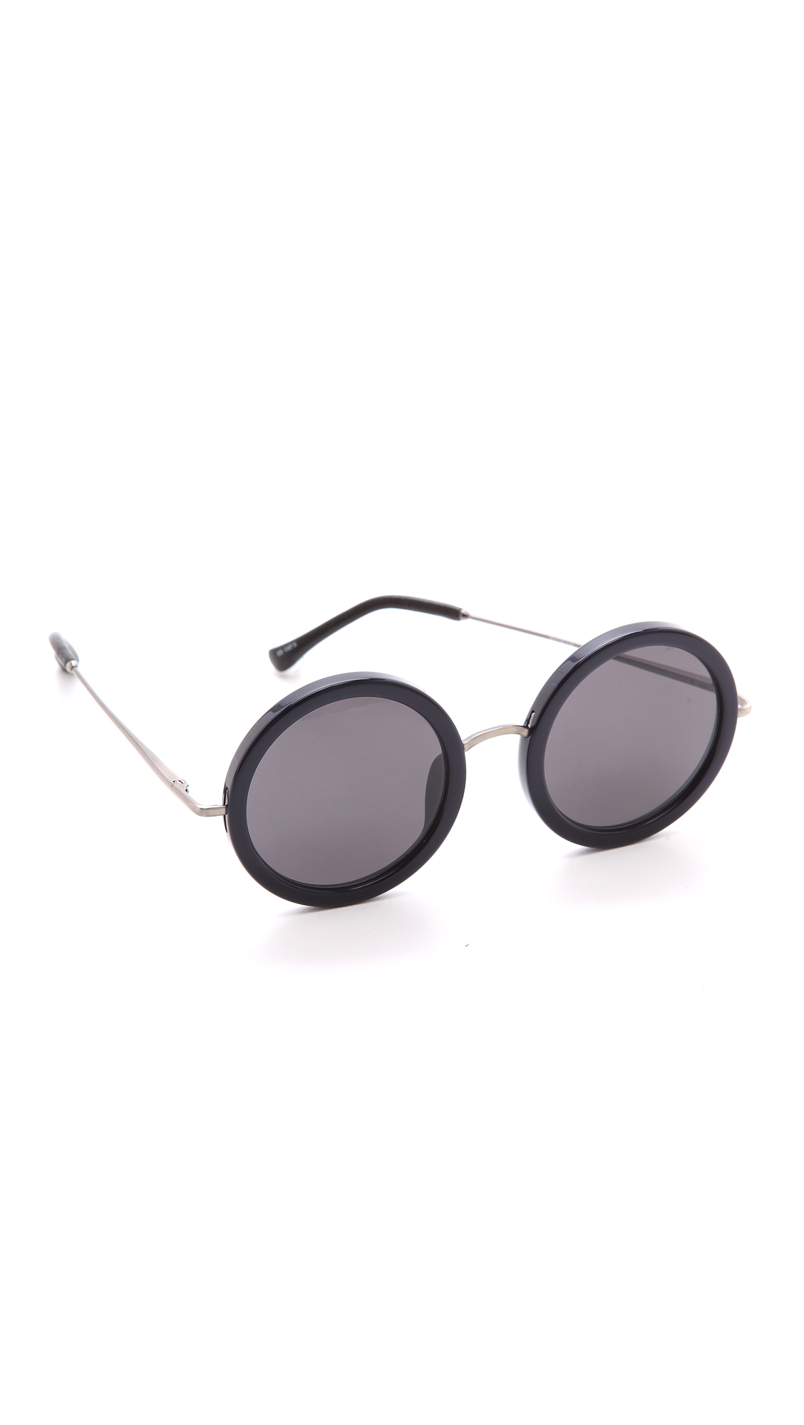 The Row Round Sunglasses - Molasses/Brown in Navy/Blue (Blue)