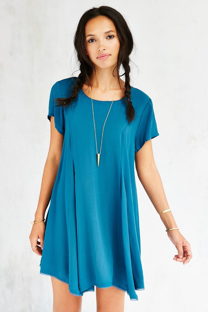 6890872031 Lyst Silence Noise Witchy T Shirt Dress In Blue