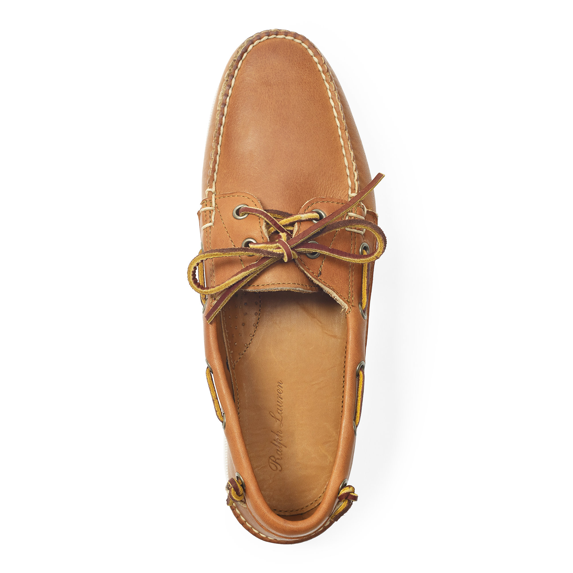 9fa424792f Ralph Lauren Brown Telford Leather Boat Shoe for men