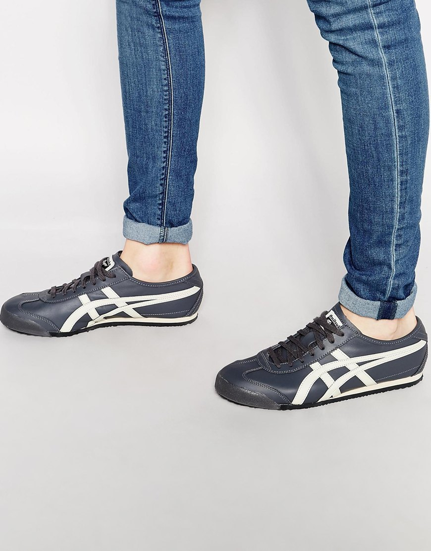 brand new b730f 87a2c Asics Gray Onitsuka Tiger Mexico 66 Trainers for men