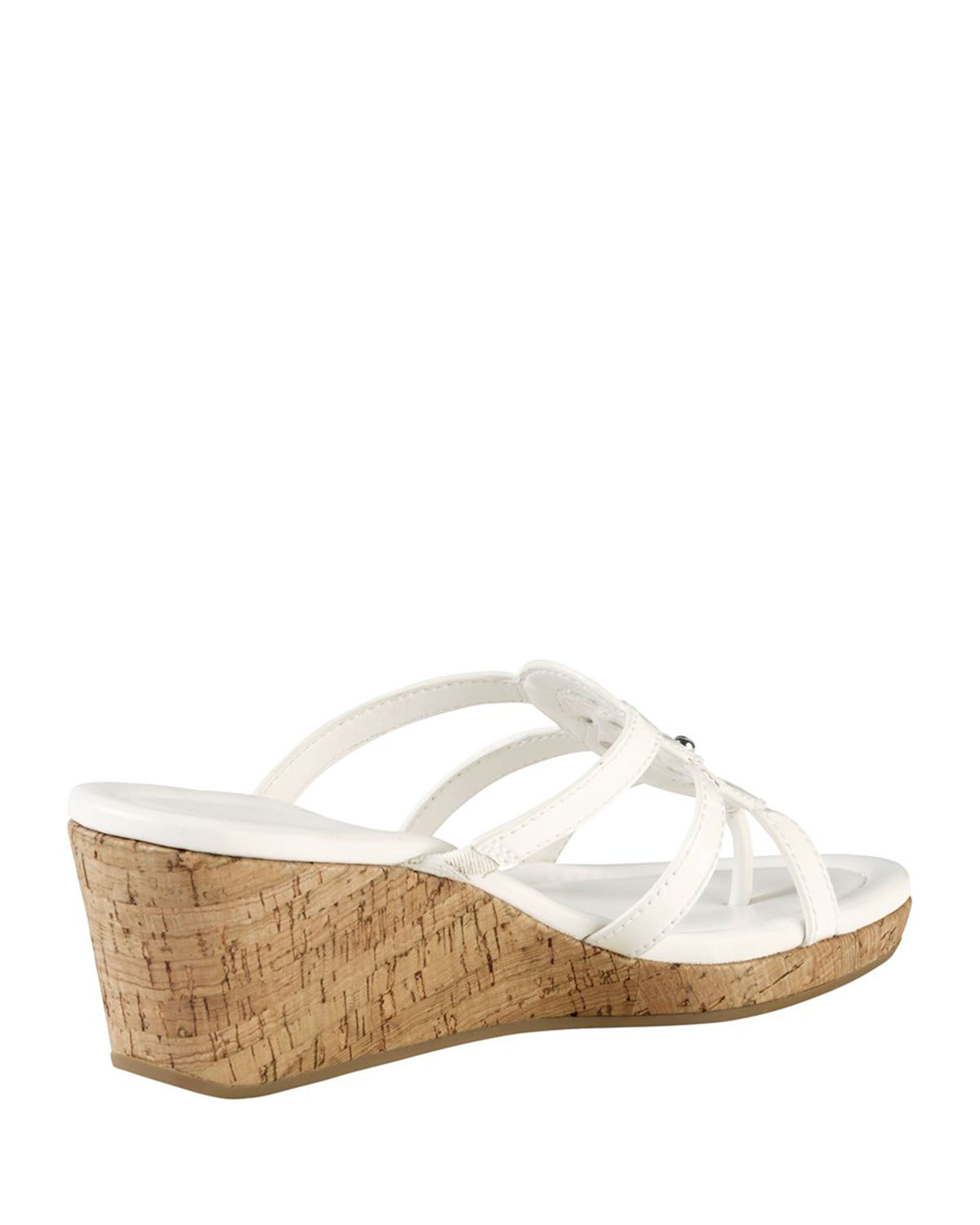 Cole Haan Shayla Patent Thong Wedge Sandal In White Lyst