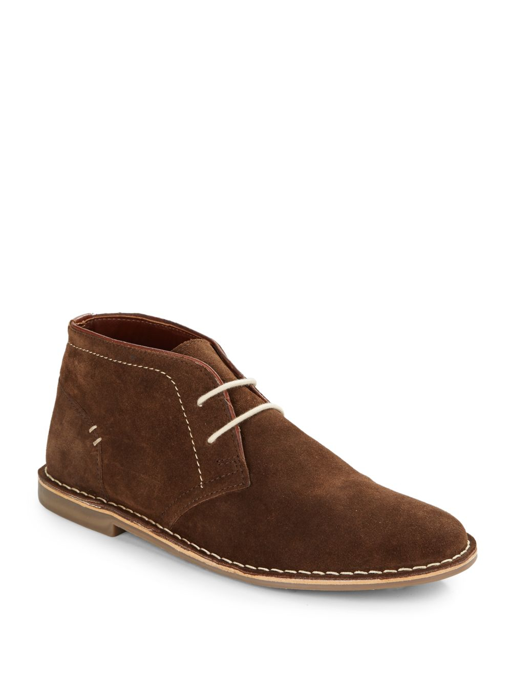 b1e86be5ea2 Steve Madden Brown Durvish Suede Chukka Boots for men