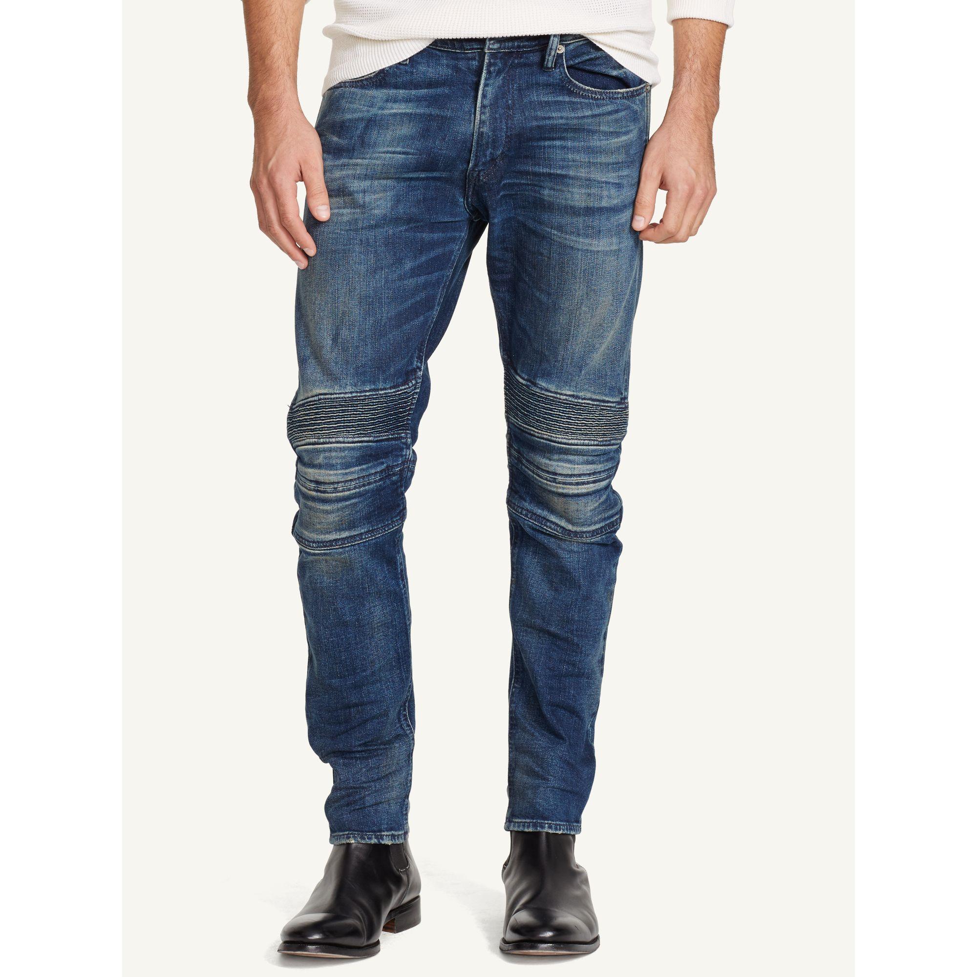 Ralph lauren Piston Moto Jean in Blue for Men (huxton stretch indigo) | Lyst