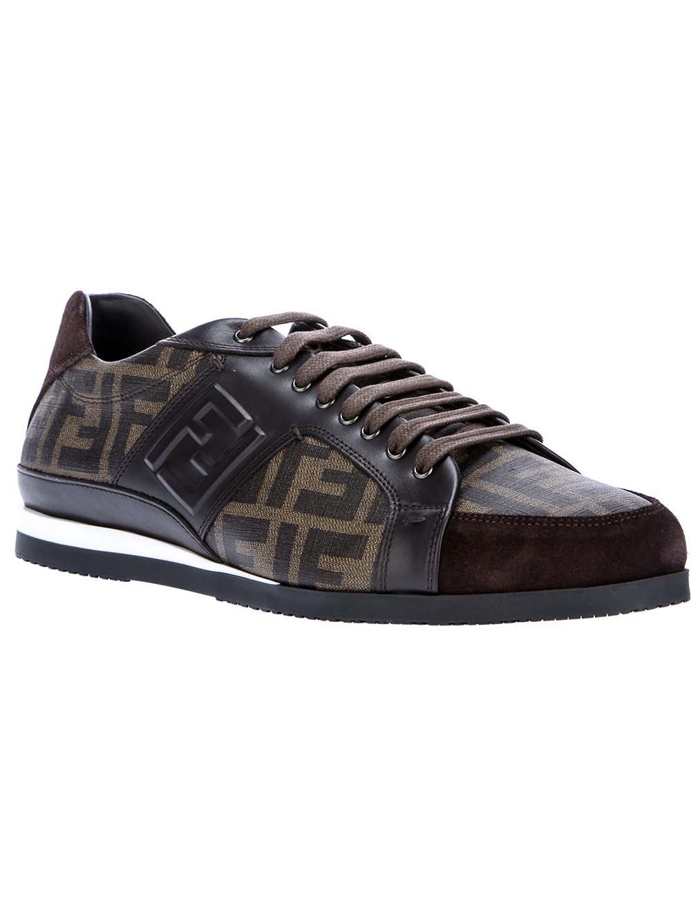 e71f6d1c Fendi Brown Zucca Sneaker for men