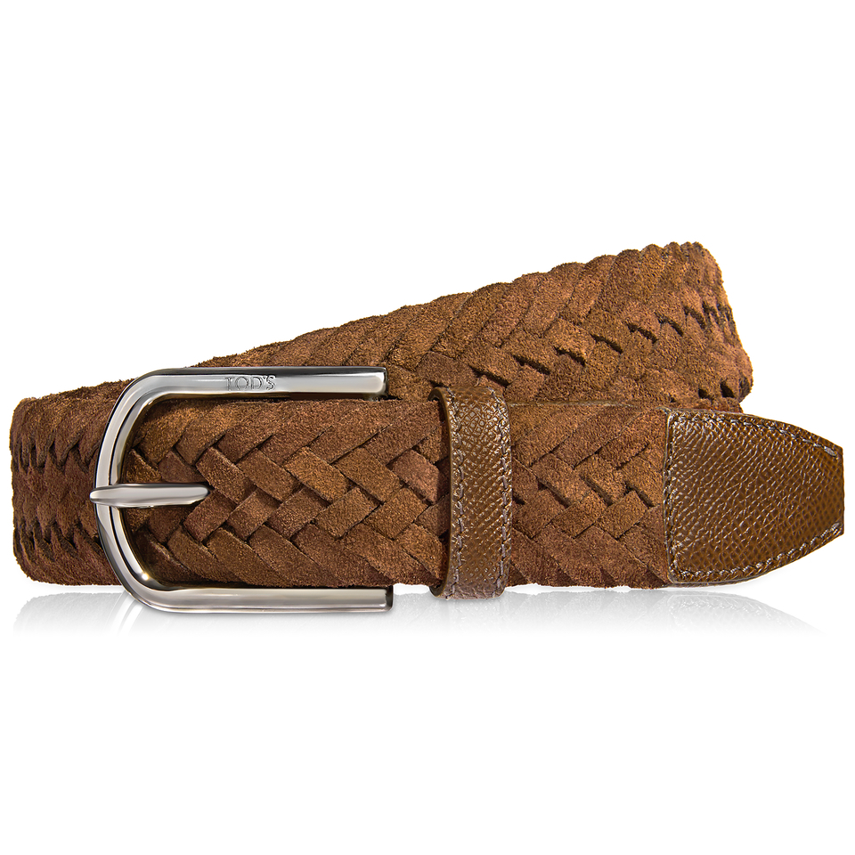 tod s suede belt in brown for lyst