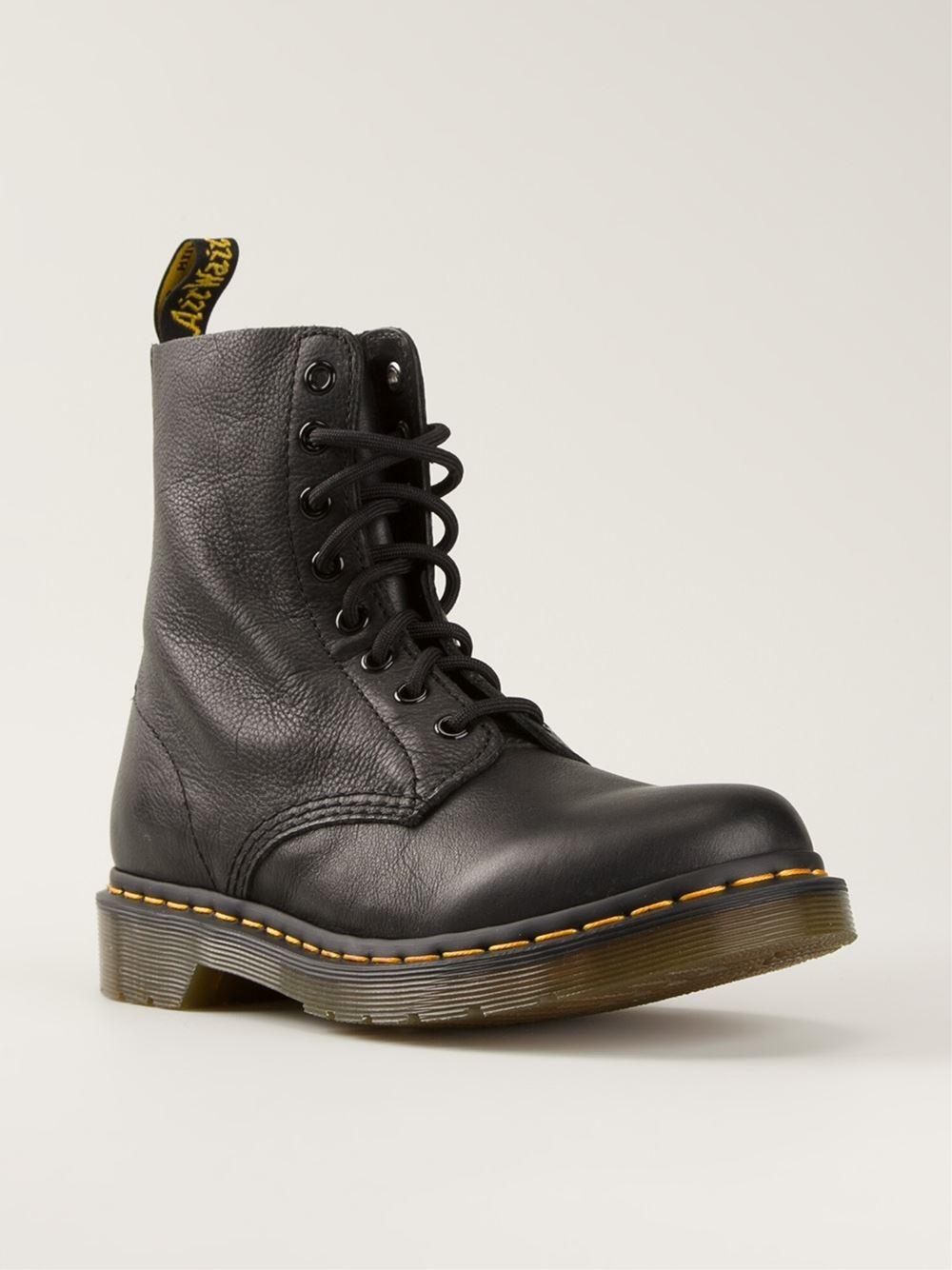 dr martens 39 pascal 39 lace up boots in black lyst. Black Bedroom Furniture Sets. Home Design Ideas