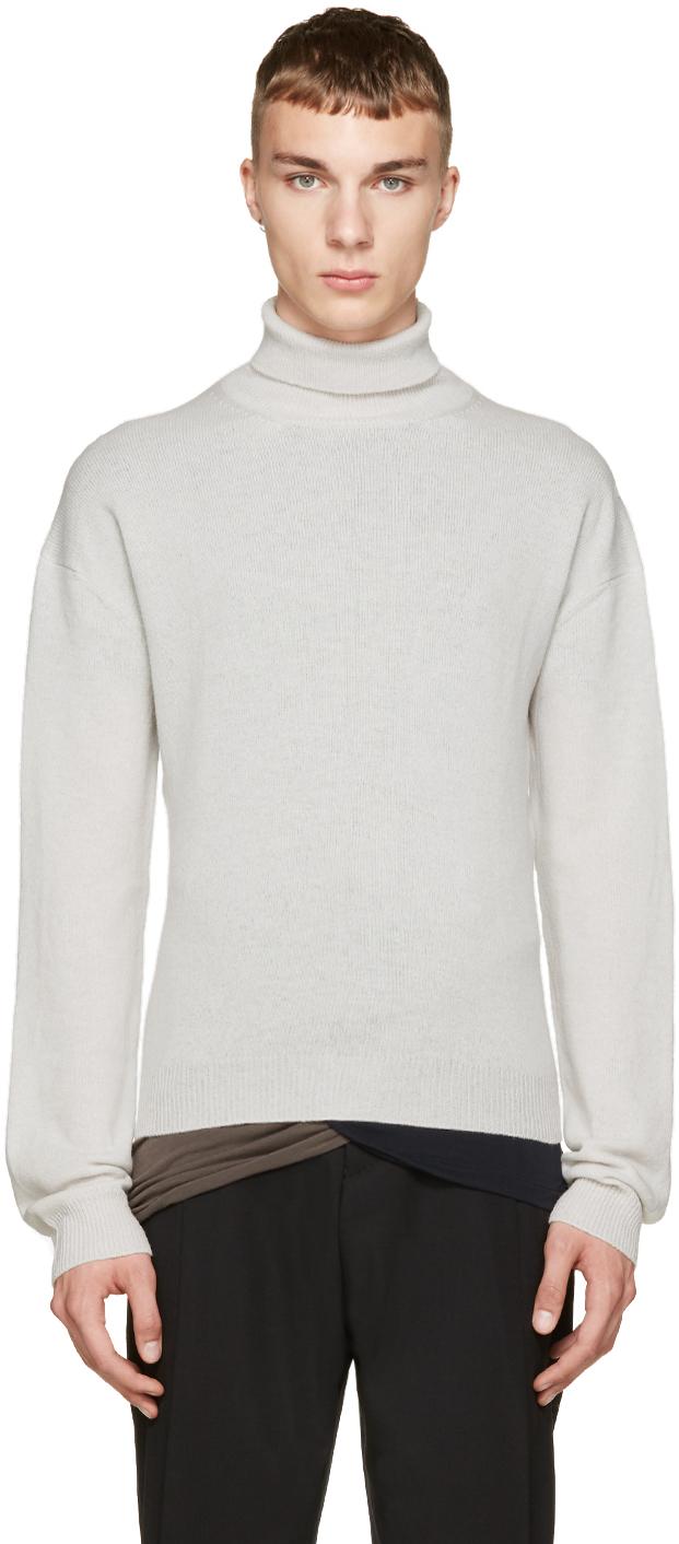haider ackermann grey turtleneck sweater in gray for men. Black Bedroom Furniture Sets. Home Design Ideas