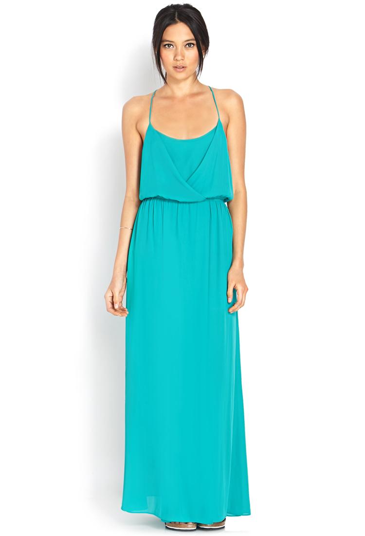 Green Maxi Dress Forever 21