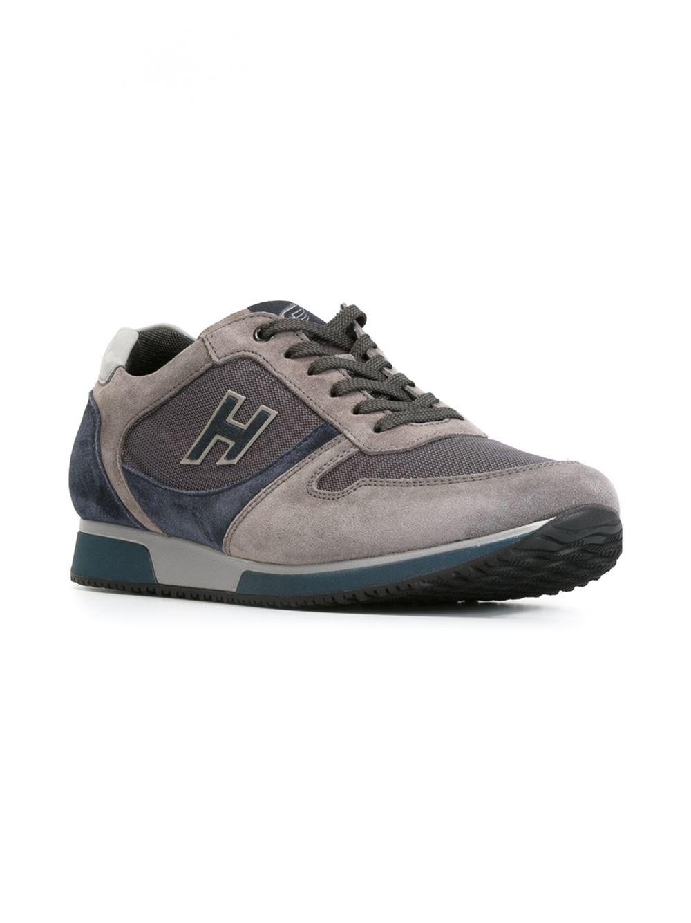 Hogan 'h198' Sneakers in Grey (Gray) for Men - Lyst