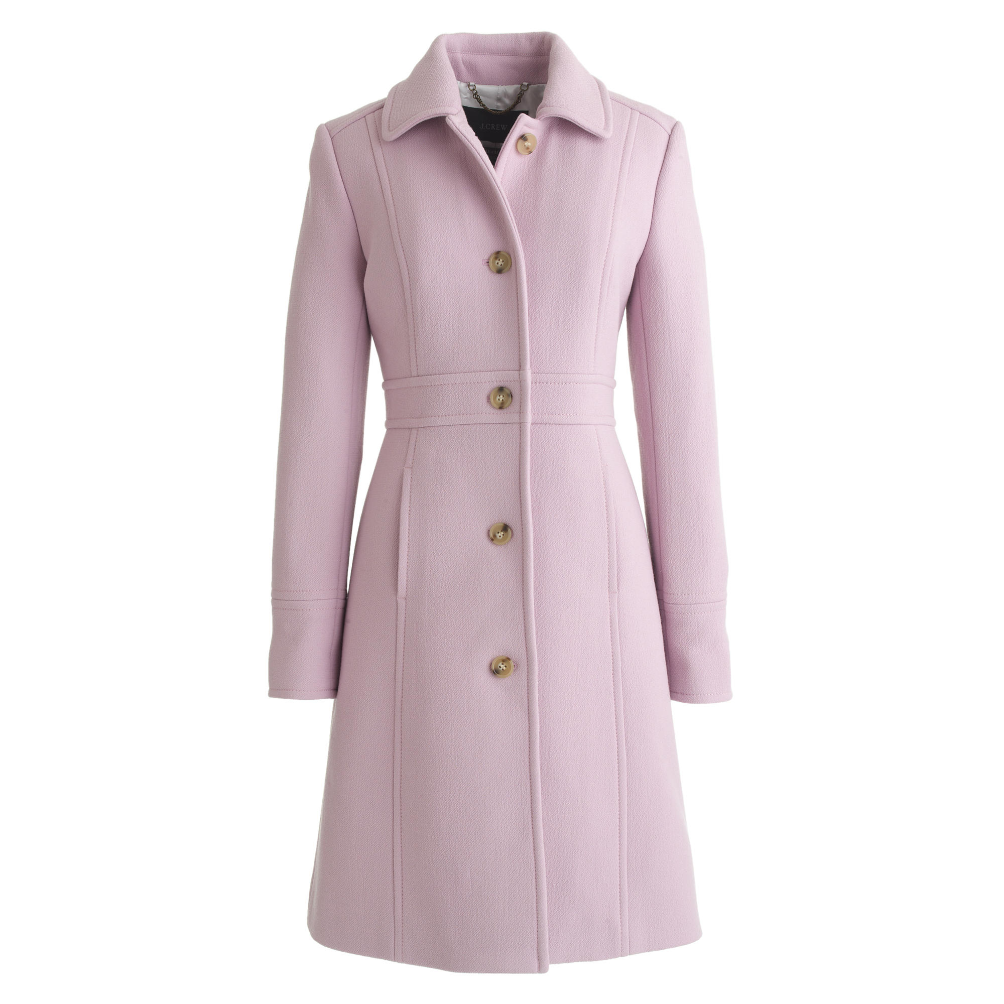 a0e59ded1 J.Crew Pink Petite Double-Cloth Lady Day Coat With Thinsulate