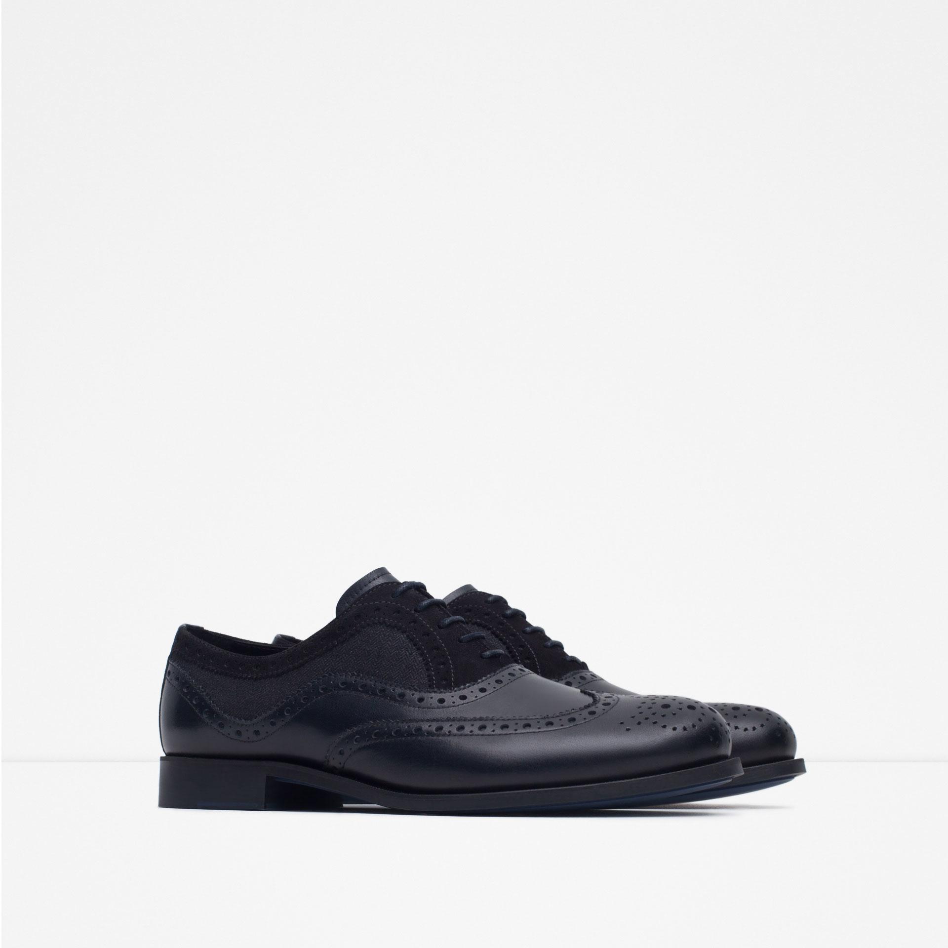 Beautiful Zara Patent Leather Oxford Shoe In Black For Men  Lyst