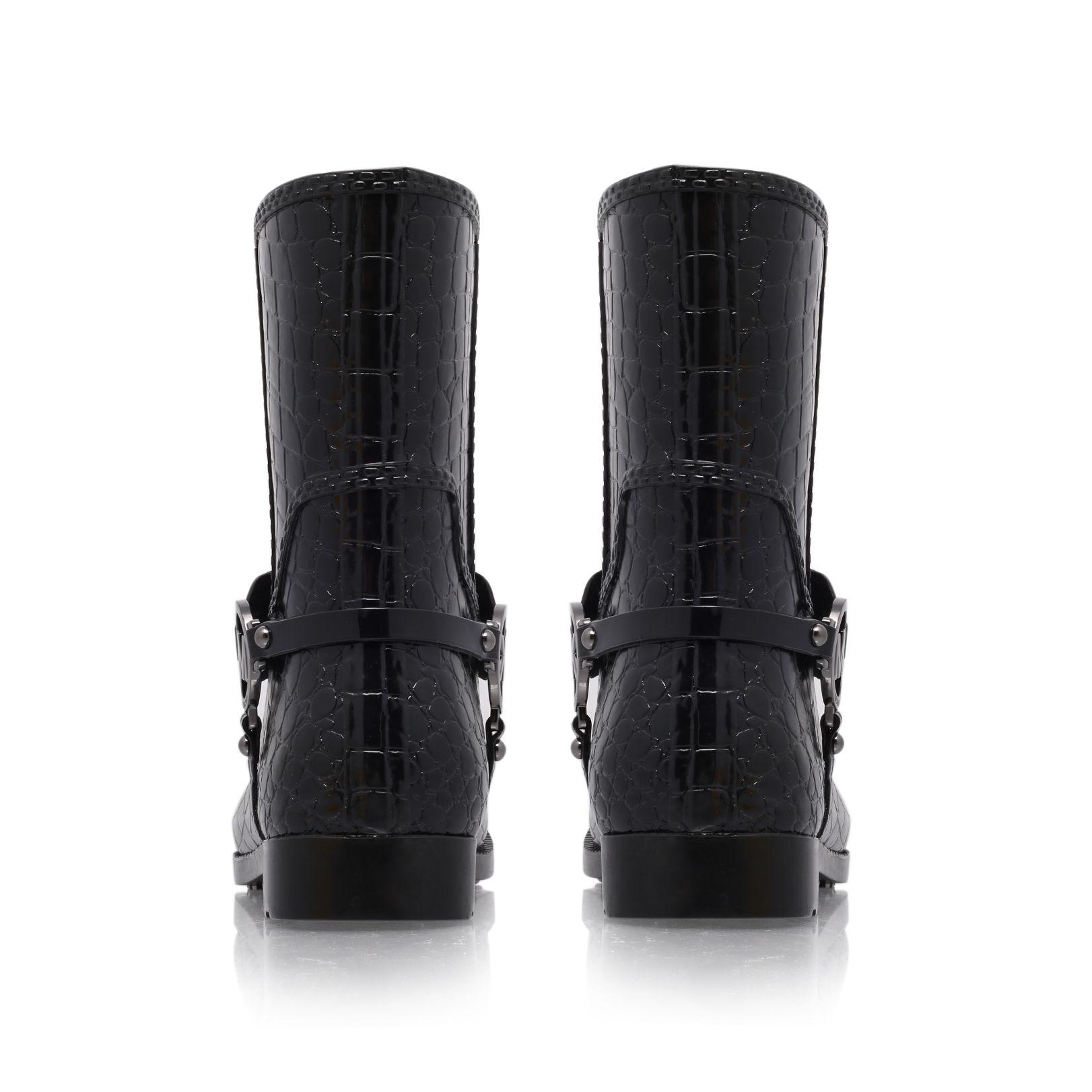 Michael Kors Synthetic Croco Rain Boot in Black