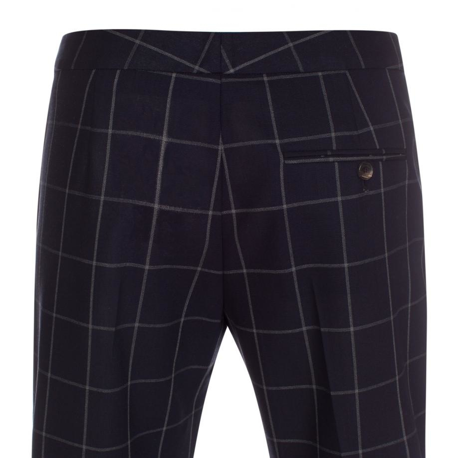 Paul Smith A Suit To Travel In Navy Windowpane Check