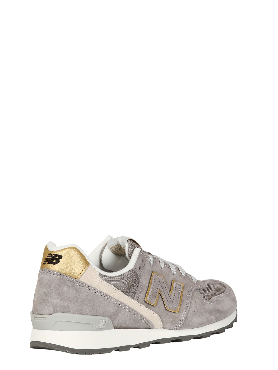 shop new balance 996 grey suede and mesh trainers e0020 b6159