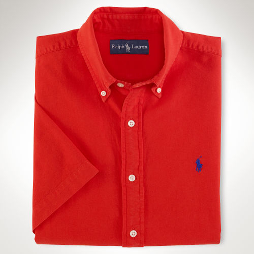 polo ralph lauren classic surfwash sport shirt in red for men lyst. Black Bedroom Furniture Sets. Home Design Ideas