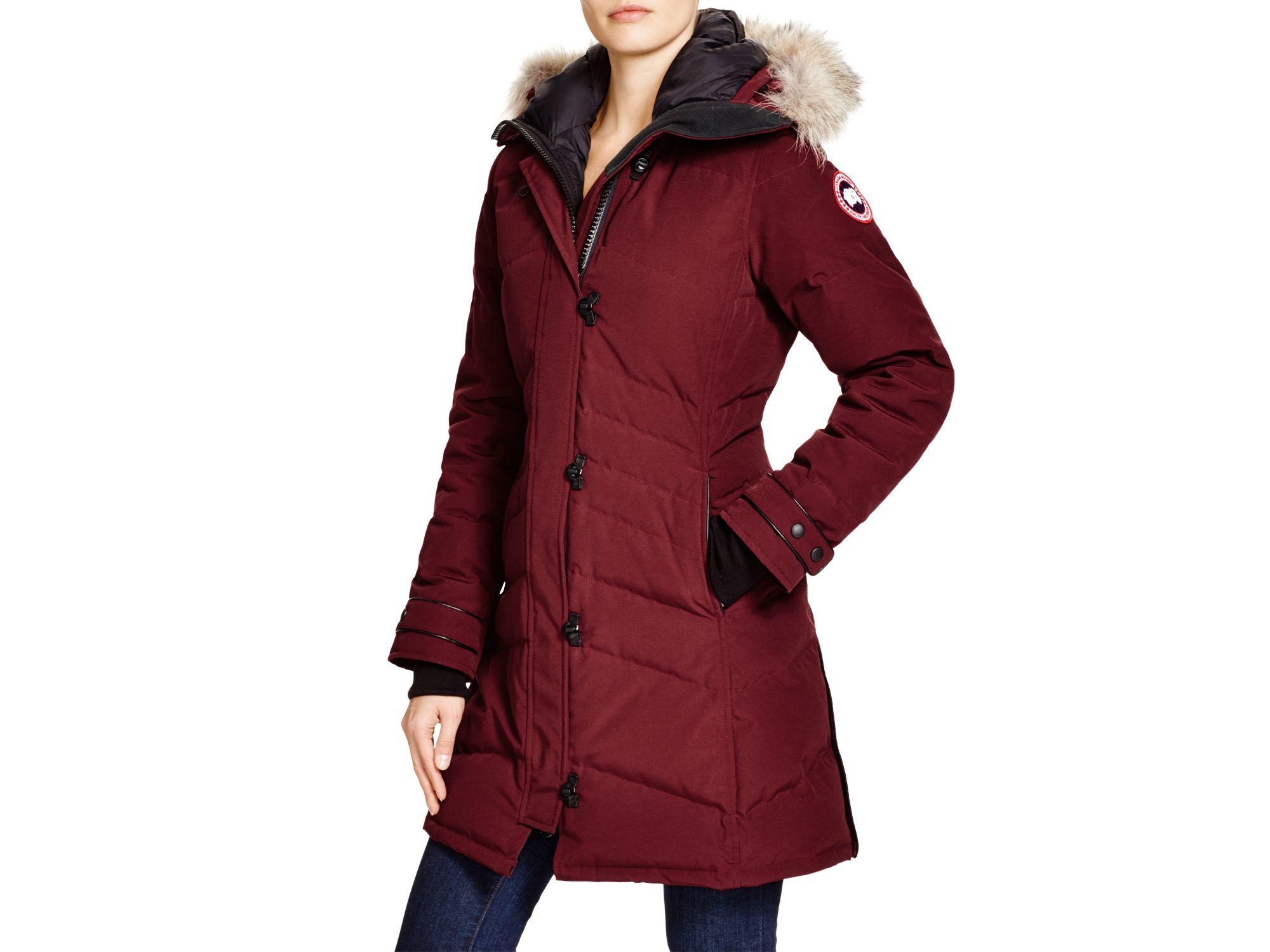 Lyst - Canada Goose Lorette Coyote Fur Trim Down Coat in Red e80c27fc0