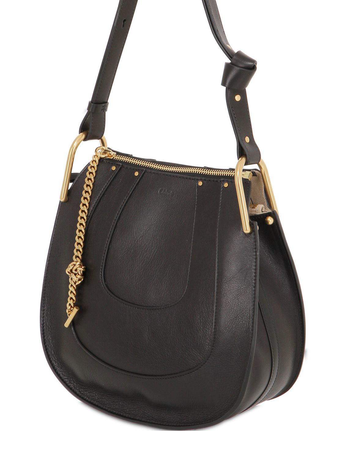 HAYLEY HOBO IN PERFORATED SMOOTH CALFSKIN