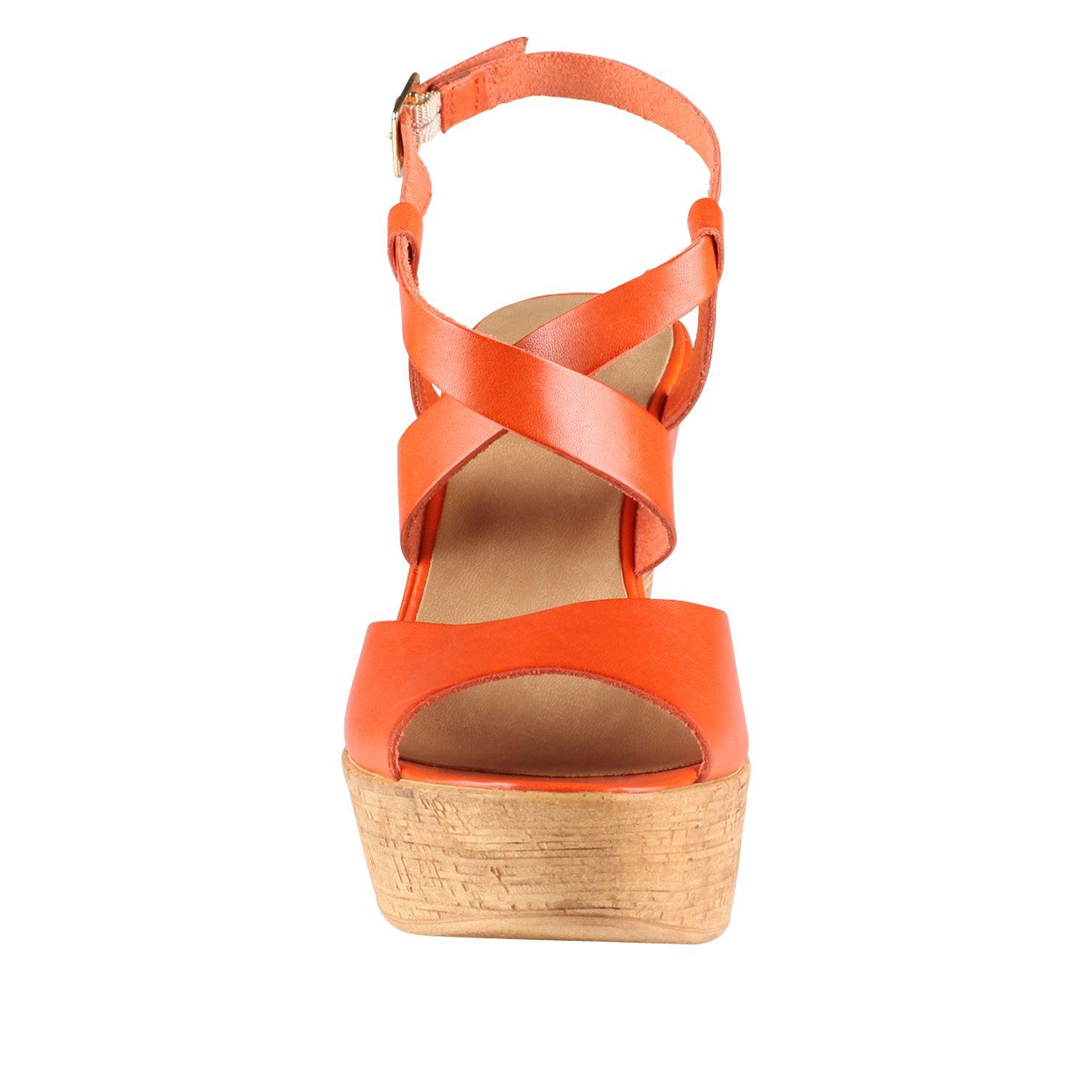 aldo dradolle ankle wedge sandals in orange lyst