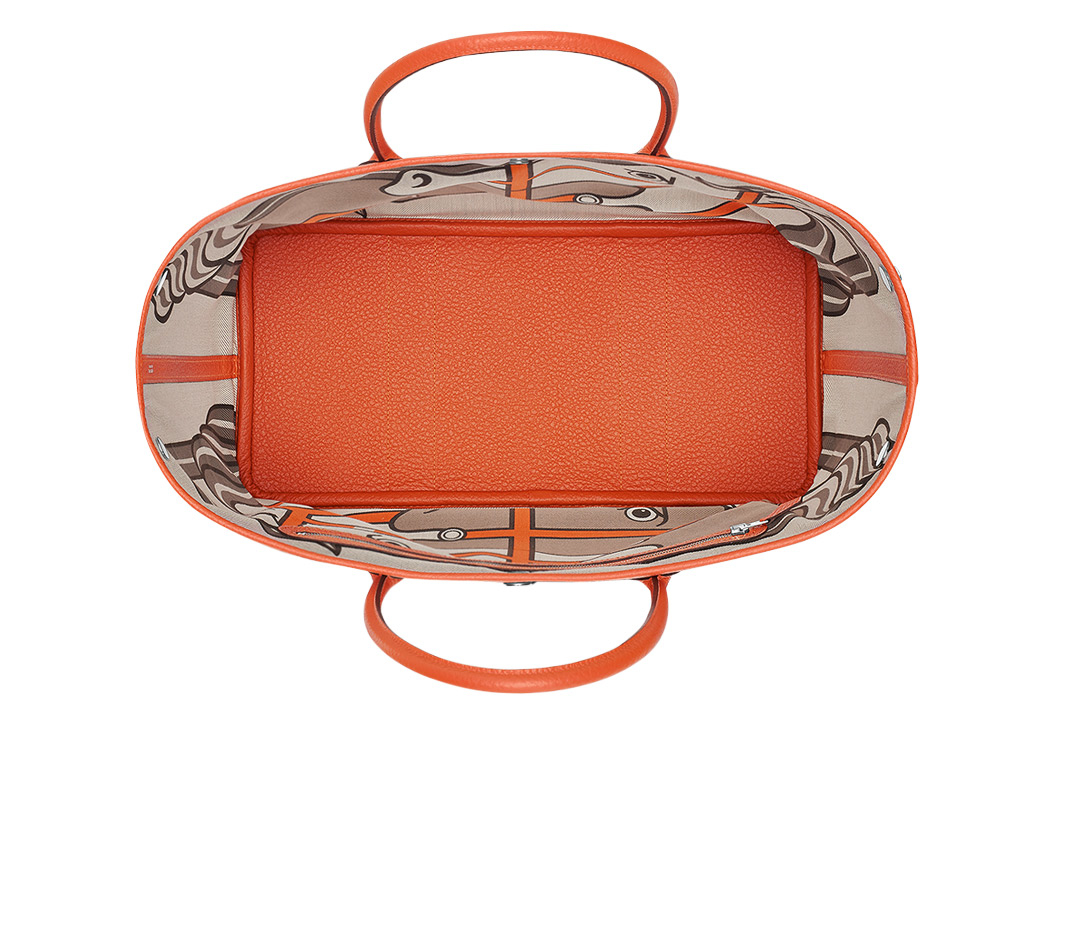 hermes Garden Party medium fire orange/fire orange