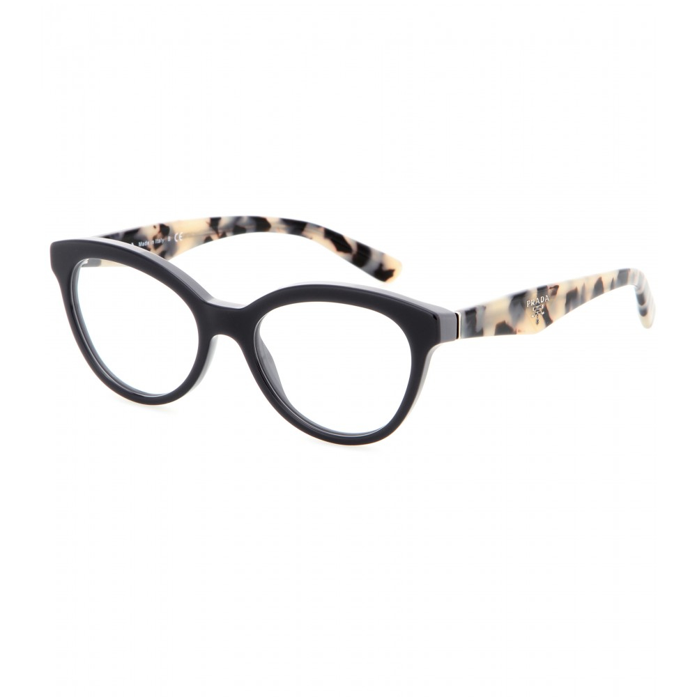 Prada Eyeglass Frames Cateye : Prada Cat-eye Optical Glasses in Black Lyst